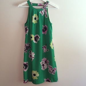 J.Crew Silk Dress with Punk Floral Print.